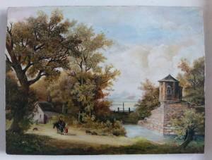 3 Schilderijenrestauratie Rotterdam Romantisch schilderij na