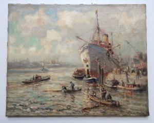 Schilderij Evert Moll Rotterdam restauratie na
